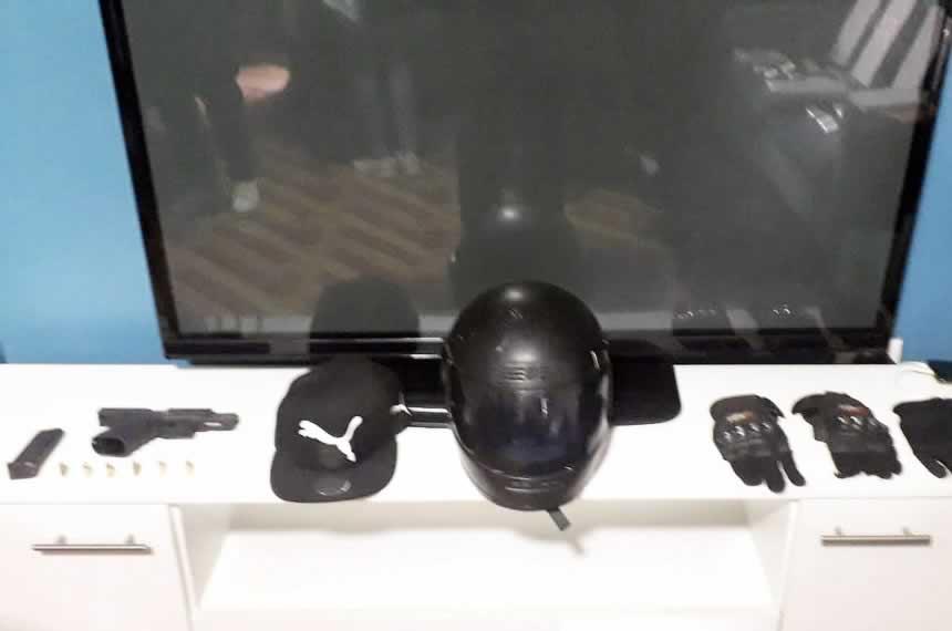 """Material utilizado durante el asalto y robo de la joyería """"Crispín"""" (Foto: Mininter)."""