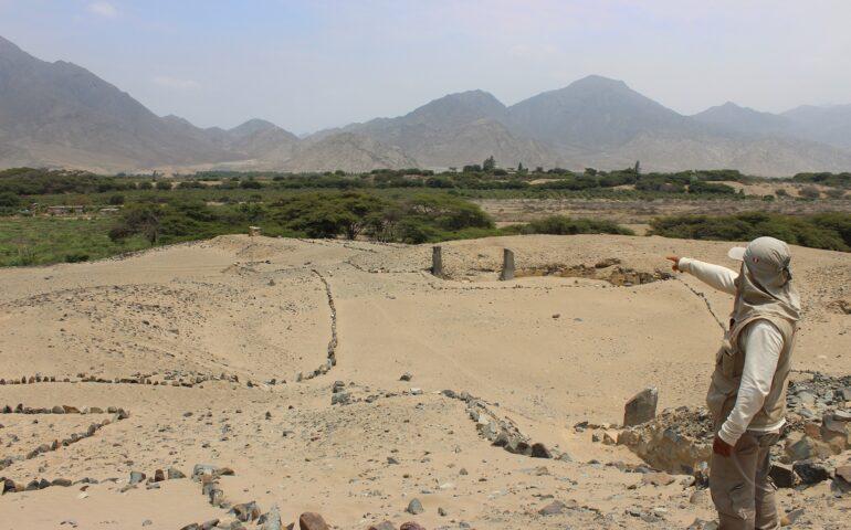Las evidencias arqueológicas de un sector de la Ciudad Sagrada de Caral) corren el riesgo de perderse (Foto: ZAC).