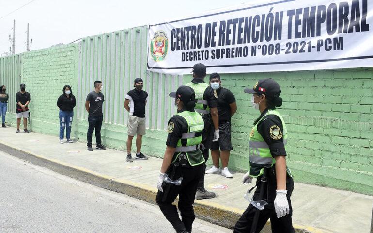 Durante la cuarentena las personas que incumplan las medidas sanitarias serán conducidas los centros de retención temporal (Foto: Mininter).
