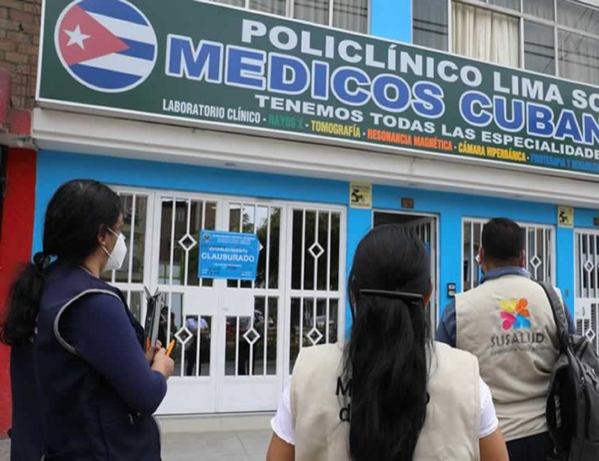 "Susalud interviene ""Clínica Internacional Médicos Cubanos"" (Foto: Minsa)."