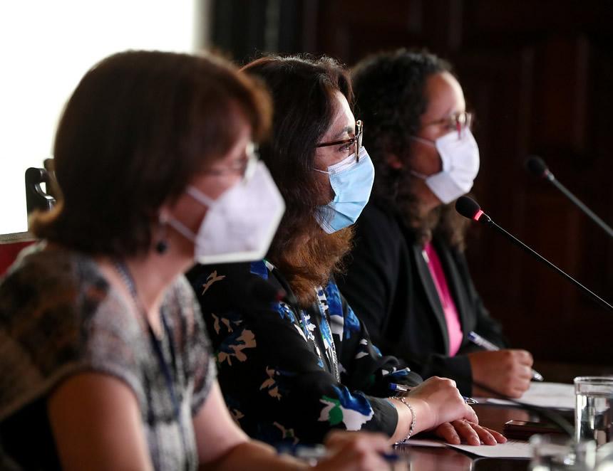 Ministras en Consejo de Ministros extraordinario (Foto: Presidencia de la República).