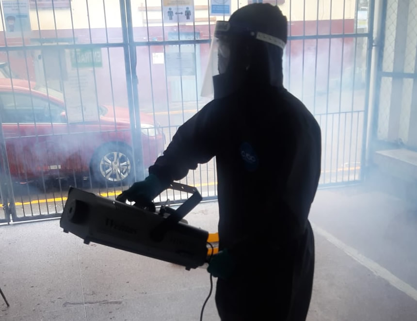 Desinfectador voluntario