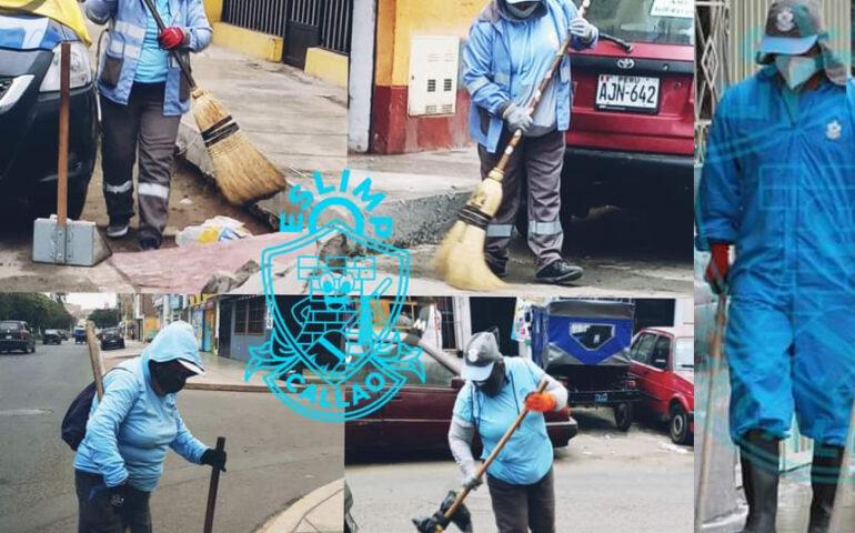 Trabajadores de limpieza pública del Callao (Foto: Eslimp).