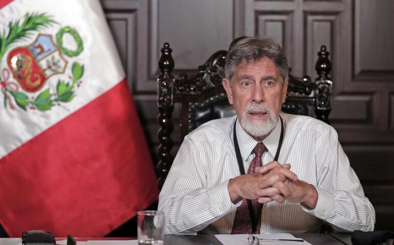 Francisco Sagasti en mensaje a la Nación (Foto: Presidencia de la República).