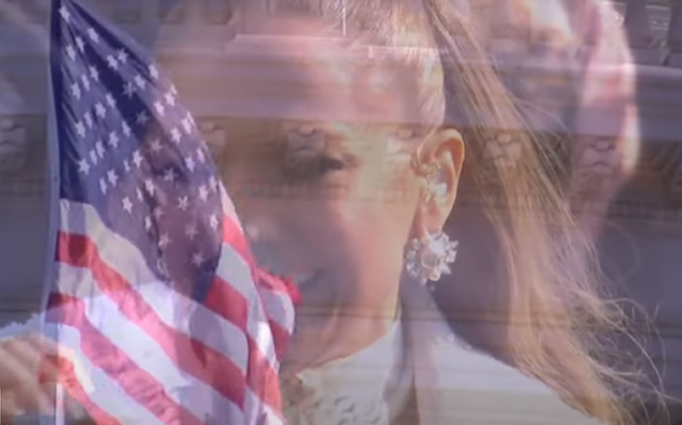 Jennifer López en la cedremonia de toma de posesión de mando de Biden (Captura: Video WhiteHouse)