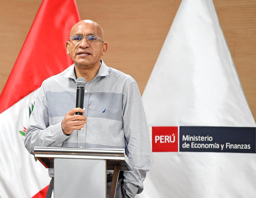 Ministro de Economia, Waldo Mendoza (Foto: MEF).