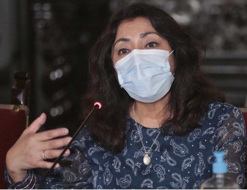 Jefa del Gabinete Ministerial, Violeta Bermúdez (Foto:PCM).