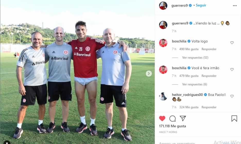 Paolo Guerrero en Instagram