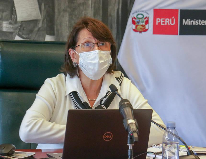 """Mazzetti ante Comisión Covid 19: """"Aquí estamos y no evadimos ninguna responsabilidad"""" (Foto: Minsa)."""