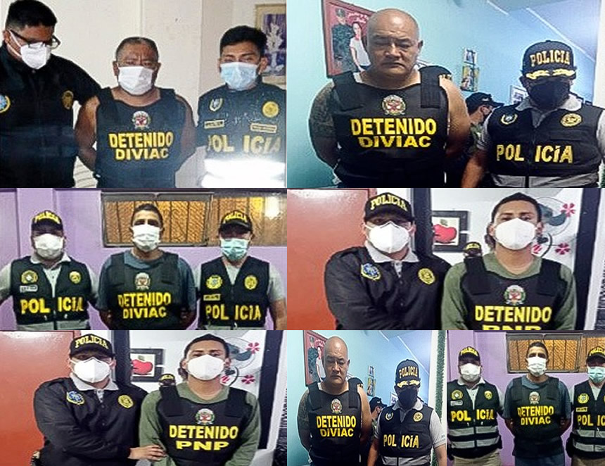 Desarticulada organización criminal dedicada a la extorsión y hurto de autopartes (Foto: Mininter).