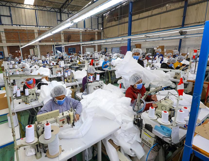 Actividades vinculadas a la manufactura no pararán durante la cuarentena parcial dispuesta por el Gobierno (Foto: Ministerio de la Producción).