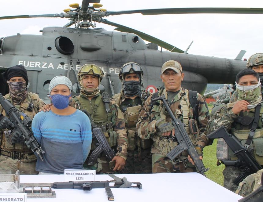Narcotraficante detenido en el VRAEM (Foto: CCFF).