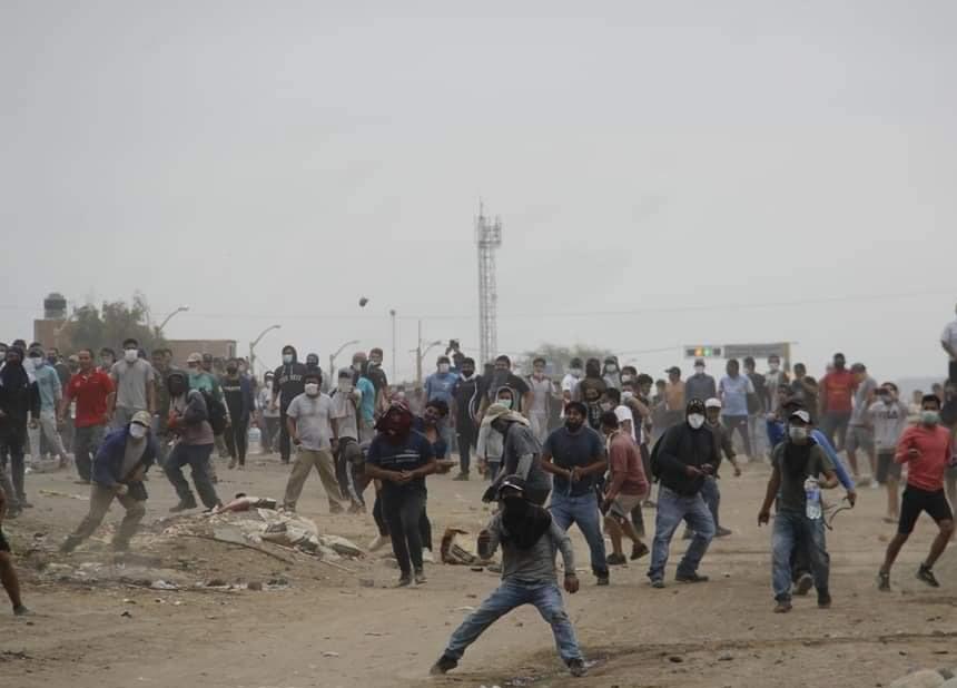 Protestas en Virú (Foto: El corresponsal de Virú).