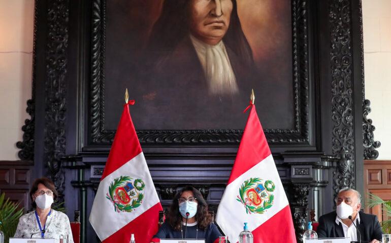 Bermúdez y Mazzetti en conferencia de prensa (Foto: PCM).