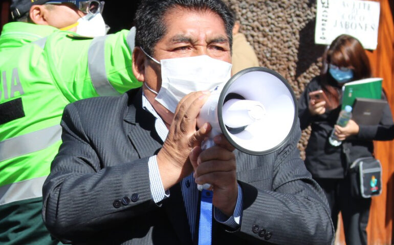 Congresista Hipólito Chaiña (Foto: Facebook cuenta Hipólito Chaiña).