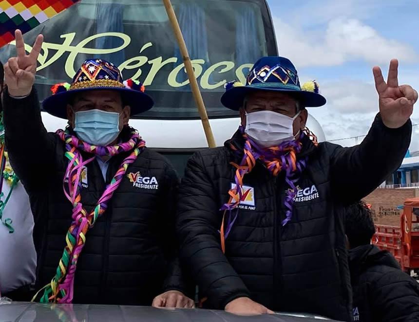 La fórmula presidencial de Unión por el Perú que encabeza José Vega Antonio sigue en carrera electoral (Foto cuenta Facebook UPP).
