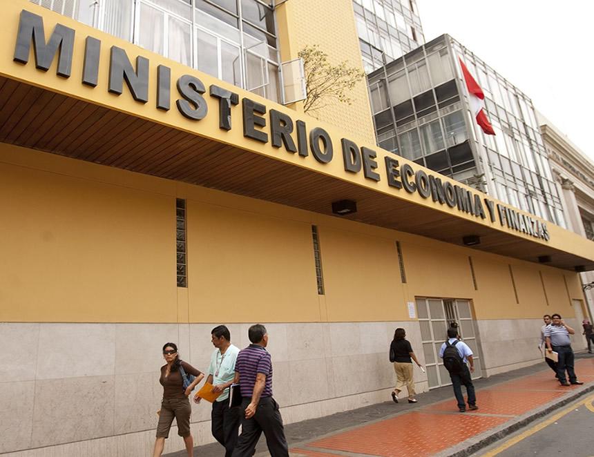 Frontis del Ministerio de Economía y Finanzas (Foto:MEF).