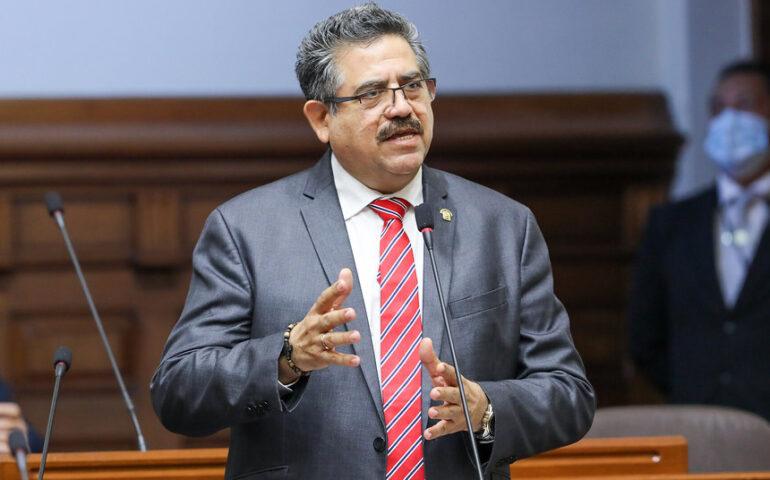 Manuel Merino utilizó epítetos en sustentación de moción para vacunación de congresistas (Foto: Congreso de la República).