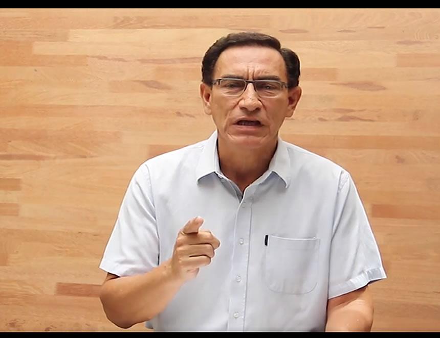 Martín Vizcarra (Captura Video).