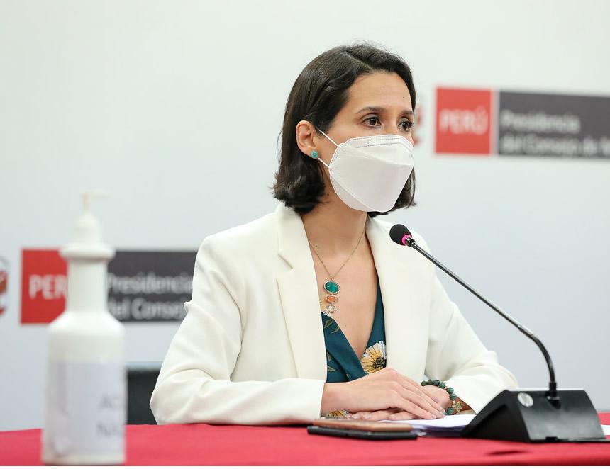 Ministra de Comercio Exterior y Turismo, Claudia Cornejo (Foto: PCM).