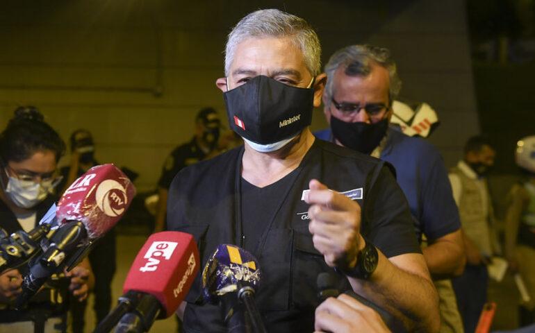 Ministro del Interior, José Elice (Foto. Mininter)