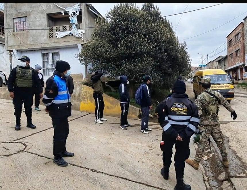 Vigilancia en las calles de Pasco (Foto. Municipalidad de Pasco).