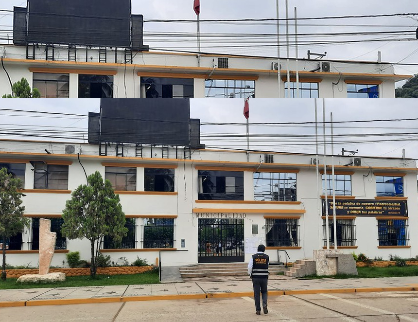 Intervención al Municipio de Satipo (Foto: Policía Nacional del Perú).