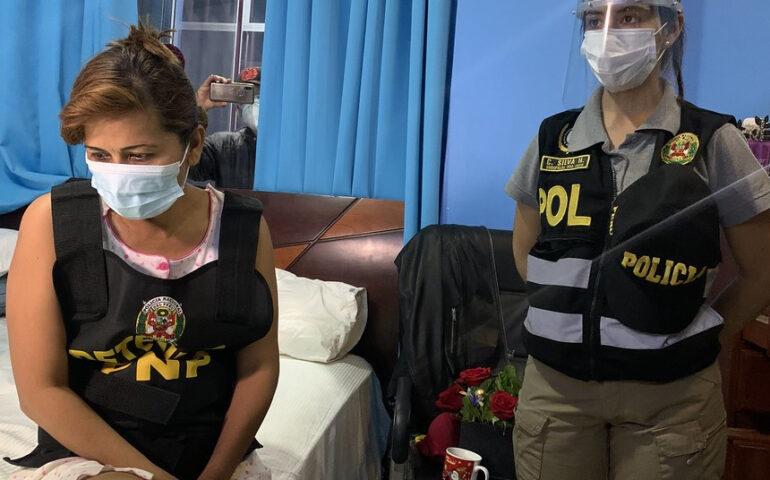 La PNP y el Ministerio Público detuvieron a la alcaldesa de Yarinacocha, Jerly Díaz (Foto: Mininter).