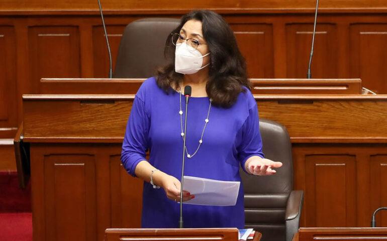 Jefe del Gabinete Ministerial, Violeta Bermúdez (Foto: PCM).