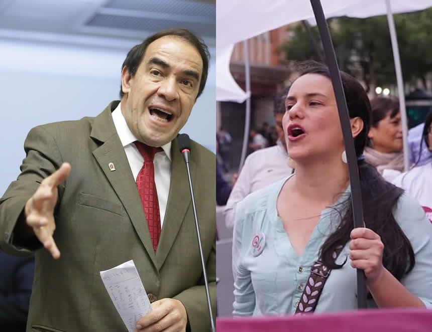 Yonhy Lescano y Veronika Mendoza, los nuevos puneerosa, según la encuesta IEP (Foto: Composición agendapais.com).
