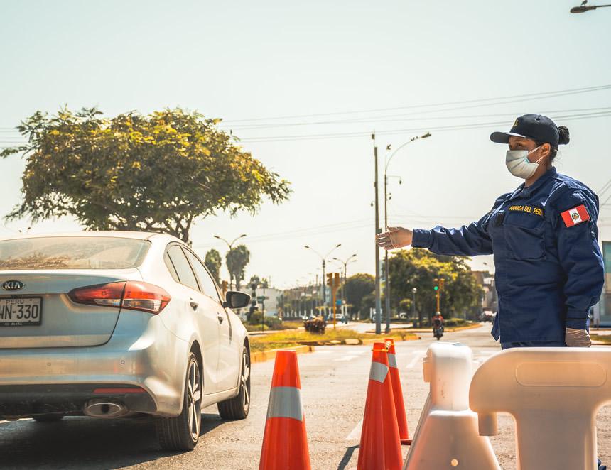 Controlen las calles del Callao (Foto: Marina de Guerra del Perù).