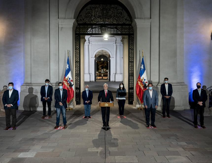 Mensaje del presidente Piñera (Foto: Presidencia de Chile).
