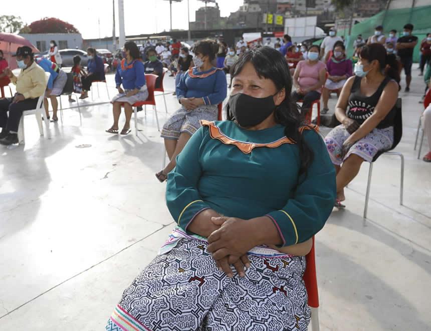 Nueva propuesta de vivienda tiene la comunidad Shipibo Konibo de la comunidad de Cangallo (Foto: MVCS).