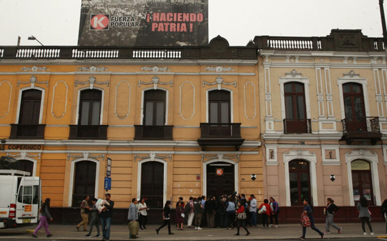 Local de Fuerza Popular (Foto: agencia andina).