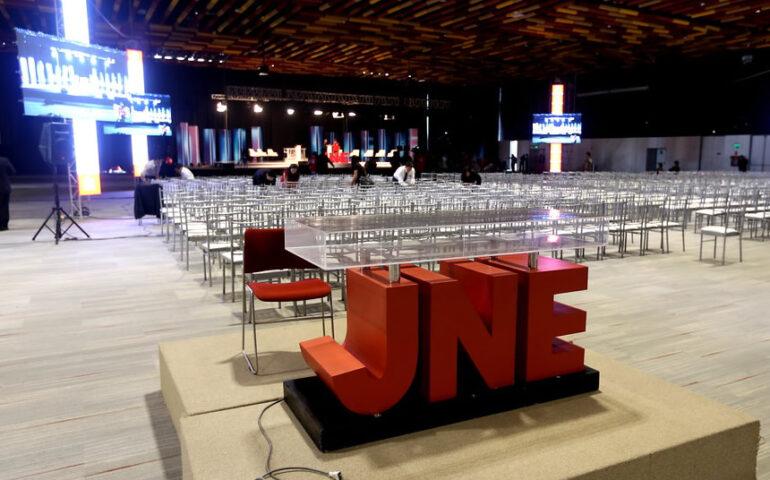 Antesala del debate presidencial (Foto: JNE).