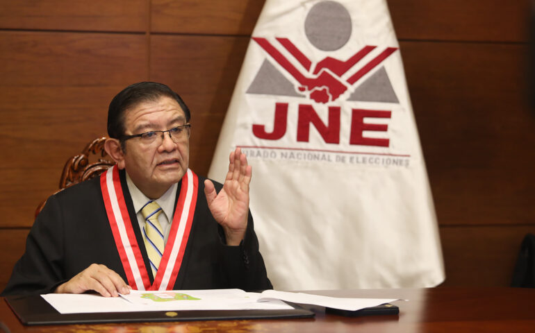Presidente del JNE, Jorge Luis Salas Arenas (Foto: JNE).