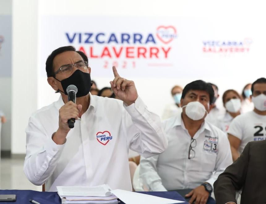Martín Vizcarra en conferenia de prensa de Somos Perú (Foto: Somos Perú).