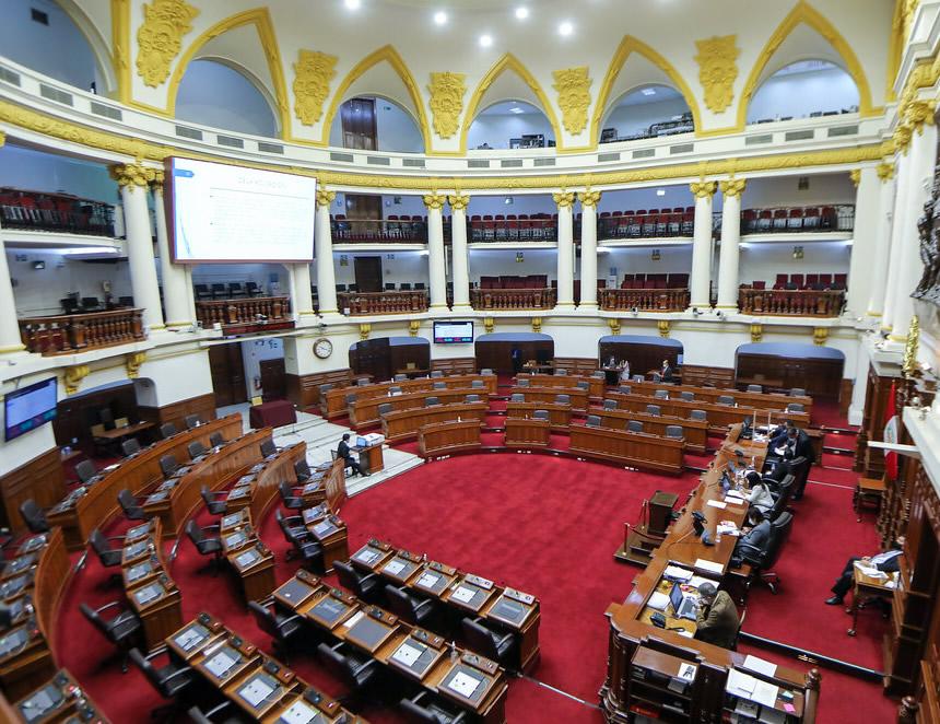 El Congreso dio hoy el primer paso para retirar por 10 años de la actividad política al expresidente Martín Vizcarra (Foto: Congreso de la República).