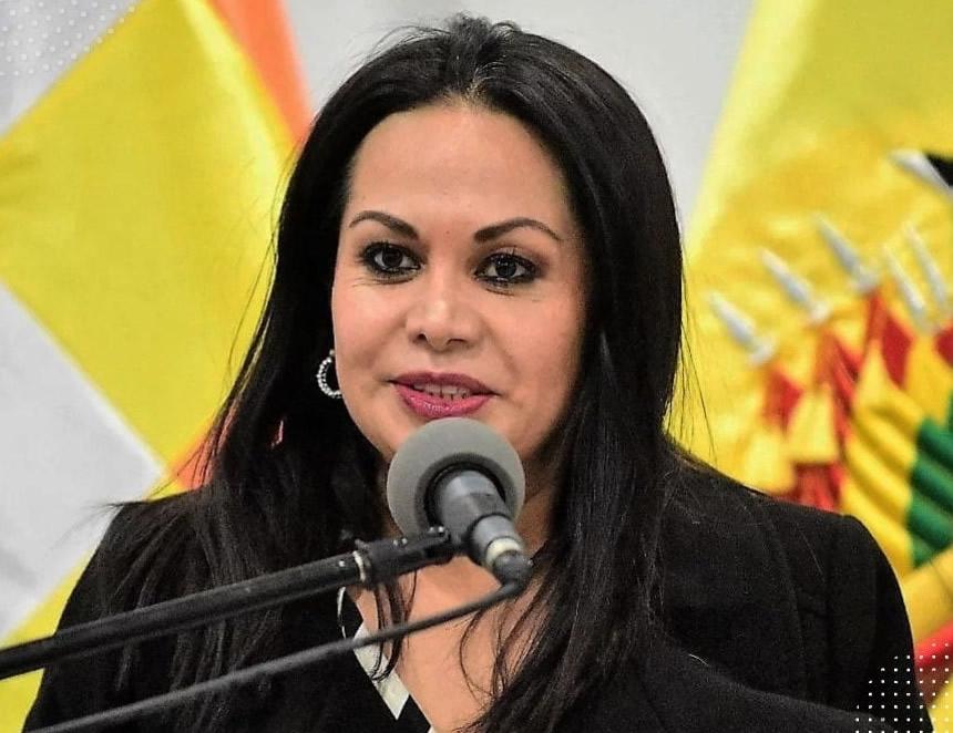 Roxana Lizárraga (Foto: Archivo Viceministerio de Comunicación Bolivia).