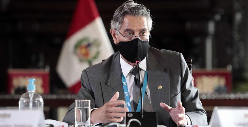 Sagasti explica (Foto: Presidencia de la República).