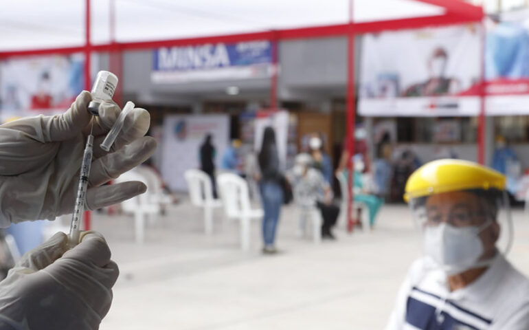Se inició vacunación de 12 318 adultos mayores del distrito de San Martín de Porres (Foto: Minsa).
