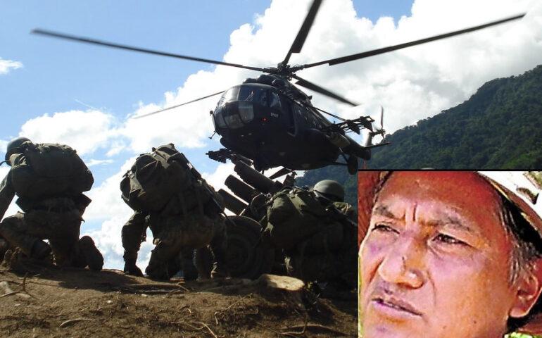 """Palomino, alias """"camarada Raúl"""", murió el pasado 27 de enero de 2021, tras heridas sufridas en ataque a campamento terrorista (Foto: Ejército del Perú; composición: agendapais.com)"""