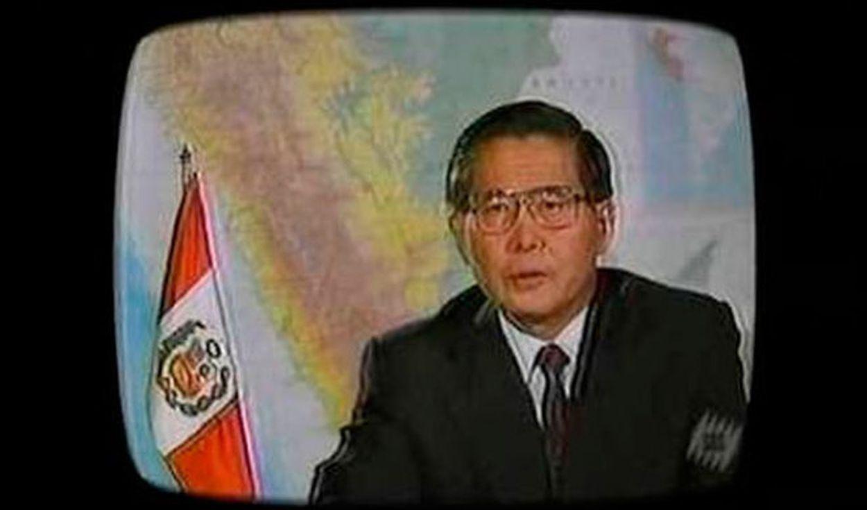 Alberto Fujimori, 5 de abril de 1992.