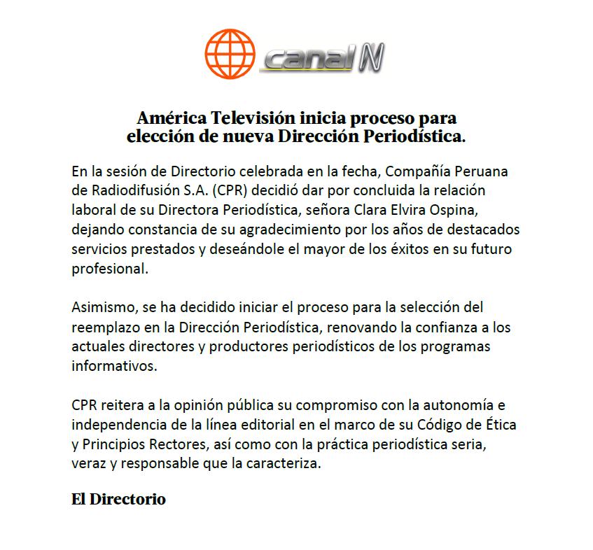Comunicado Amèrica TV.