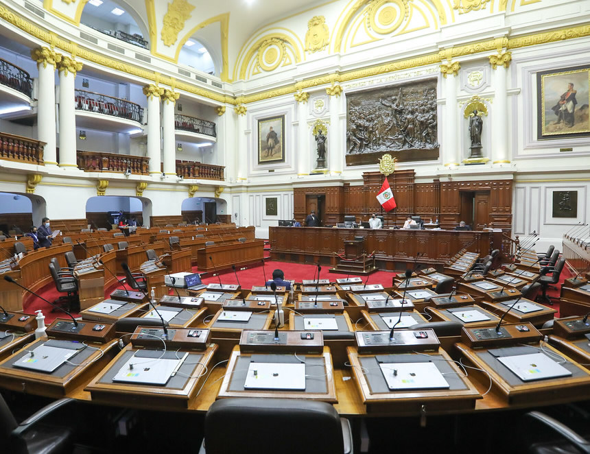 Sesión del Pleno del Congreso (Foto: Congreso de la República).