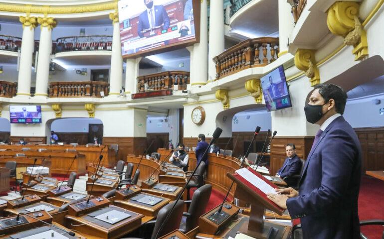 Debate de la bicameralidad en el Pleno (Foto: Congreso de la República).