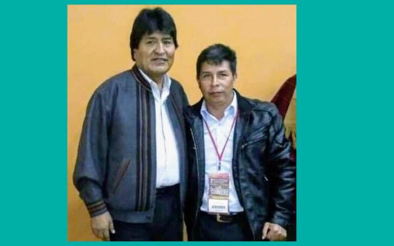 Evo Morales y Pedro Castillo (Foto: Facebook cuenta Evo Morales).