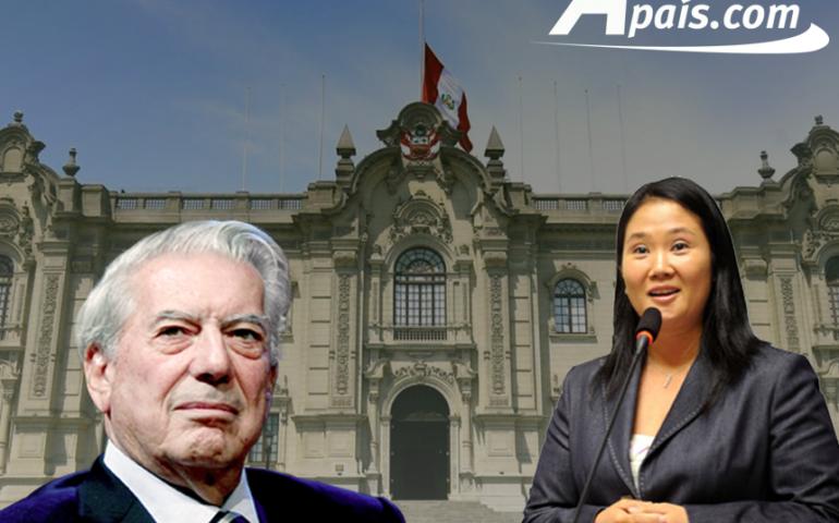 Mario Vargas llosa y Keiko Fujimori (Foto: agendapais.com)