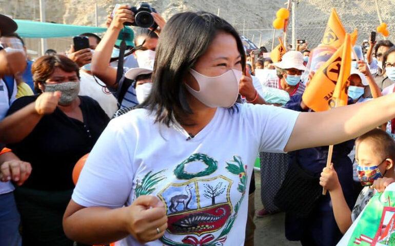 eiko Fujimori en campaña U(Foto: Cuenta Facebook).