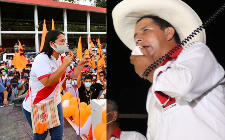 Keiko Fujimori y Pedro Castillo (Foto: Facebook).